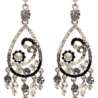 Sparkle Paisley Earrings in Gradient – bandbcouture.com