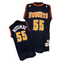 Denver Nuggets Dikembe Mutombo #55 Away Throwback Jersey