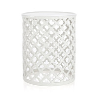 Jali White Accent Table
