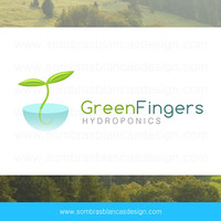 OOAK Premade Logo Design - Green Fingers - Perfect for a gardening blog or an agriculture business
