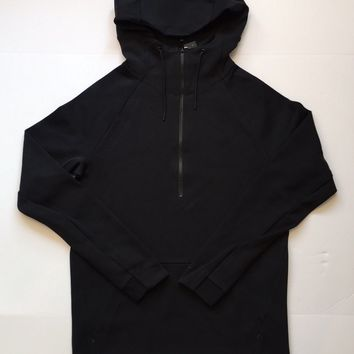 KUYOU Nike Sportswear Tech Fleece Half-Zip Up Hoodie Black 884892-010