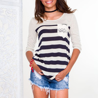 Mia Stripe Top