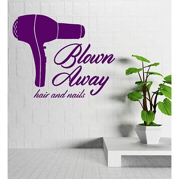 Barber Tools Beauty Salon Stylist Hair Nails Wall Sticker Vinyl Decal Unique Gift (ig2035)