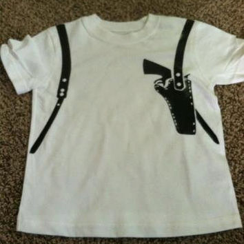 Gun Holster Tshirt Toddler to Adult sizes available