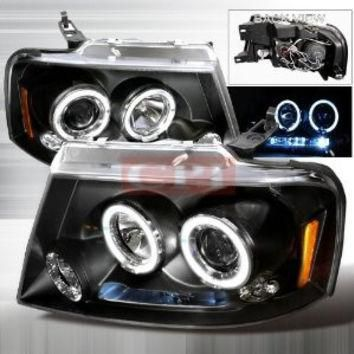 FORD 04-08 FORD F150 CCFL HALO PROJECTOR HEADLIGHT performance conversion kit 1 SET R