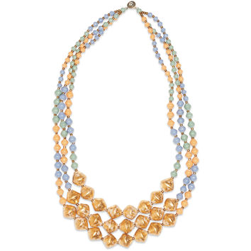 31 Bits Gold Multistrand Beaded Necklace