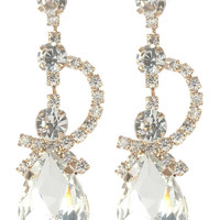 Gorgeous rhinestone fashion earrings  MME24689gdcl