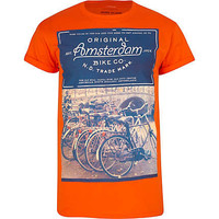 Orange Amsterdam photo print t-shirt