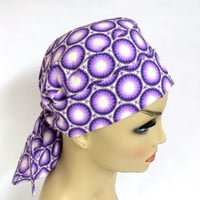 Pony Pouch Womens Surgical Scrub Cap in Lavender Kaleidoscope