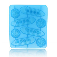 Titanic Ocean Liner and Iceberg Shaped Ice Cube Trays Ice Mold Ice Maker (Blue)