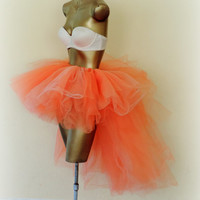 High Low orange tutu,Adult tutu, halloween tutu costume. rave raver outfit, adult tutu dress, orange fall tutu, sexy womens costume