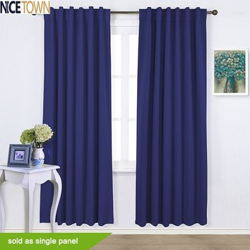 Thermal Insulated Rod Pocket / Back Tab Blackout Curtain