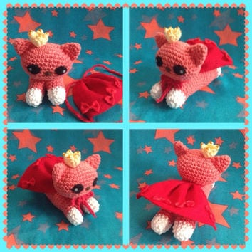 Amigurumi Super Cat Crochet Cat Stuffed Animal Stuffed Toy Cat Kids Toy Kawaii Super Cat Plush Gift Ideas