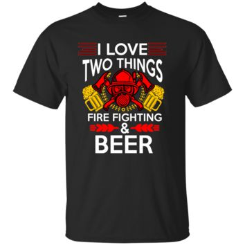 Firefighter Beer Funny Novelty T Shirt