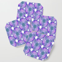 Lilac Floral Pattern Coaster by kasseggs