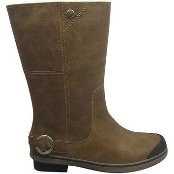 Cold Front Womens' Tall Buckled Winter Boots, 11, Dark Brown/Black