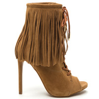 THE ROXY FRINGE BOOTIE - TAN