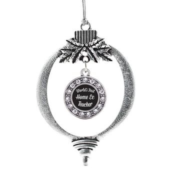 World's Best Home Ec Teacher Circle Charm Holiday Ornament