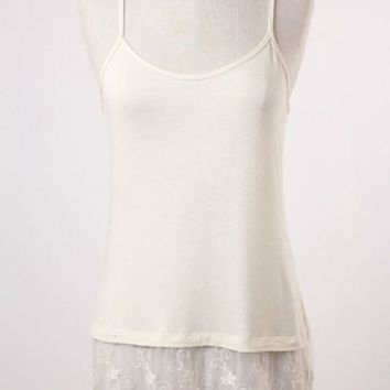 Ivory Lace Shirt Extender
