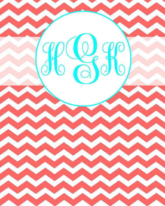 Personalized Printable Chevron Monogram From