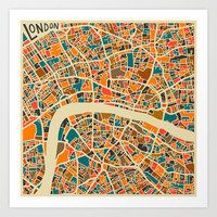 London Art Print by Jazzberry Blue