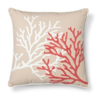 Threshold™ Embroidered Coral Toss Pillow - Coral