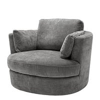 Gray Velvet Swivel Chair | Eichholtz Clarissa