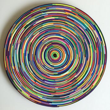 Art Decorative Mandala - Rainbow Mandala - 3D Art Spiral - Original Modern Art - 3D Wall Decoration - Foam Art