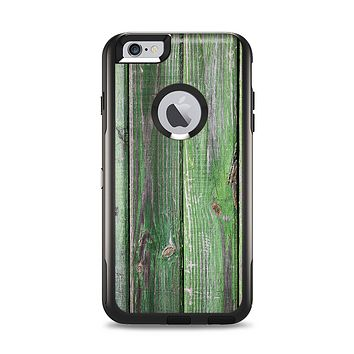 The Mossy Green Wooden Planks Apple iPhone 6 Plus Otterbox Commuter Case Skin Set