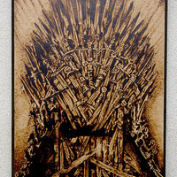 The Game of Thornes inspired GoT The Iron Throne pyrography art