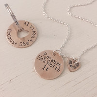 Deployed, Deployment, Military, Air Force, Army, Marine, Navy, Spouse, Couples, Necklace, Keychain, Hand Stamped, Fiancé, Girlfriend, Wife