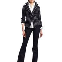 Vivienne Westwood Anglomania Women's Jabot Cross Striped Jacket