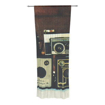 "Robin Dickinson ""Through the Years"" Vintage Camera Decorative Sheer Curtain"