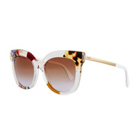Fendi Printed Pointed Square Sunglasses