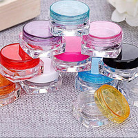 10pcs Cosmetic Empty Jar Pot Eyeshadow Makeup Face Cream Lip Balm Container