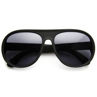 Oversize Retro Soft Rubberized Aviator Sunglasses 8813