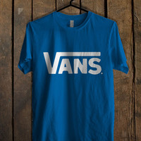 Vans Classic Blue For Mens T Shirt and Womens T Shirt *76*