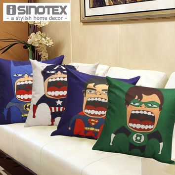 """17"""" Big Mouth Super Hero Pillow Cases"""