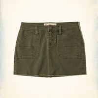 Girls Button Fly Low-Rise Twill Mini Skirt | Girls Bottoms | HollisterCo.com