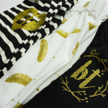Baby Truth Cotton Baby Harem Shorts Baby Shorts Baby Girl Shorts Black Cotton Shorts Baby Shower Gift New Baby Gift Black and Gold