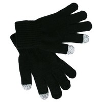 Men's Black Texting Touch Screen Knit Gloves