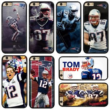 NEW New England Patriots PC+TPU Edge Phone Case Cover For iphone XS MAX XR X 5s 6s 7 8 Plus Samsung s5 s6 s7 s8 s9 J5 #T030
