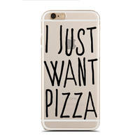 I just want pizza - Super Slim - Printed Case for iPhone - SC-071