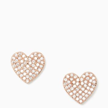 yours truly pave heart studs | Kate Spade New York