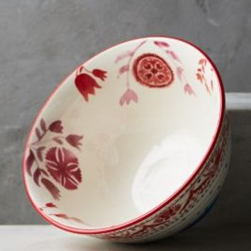 Nordic Sunrise Cereal Bowl by Anthropologie in Red Size: Bowl Bowls