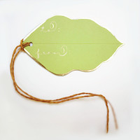Gold Foil Leaf Gift Tags