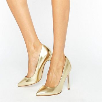 ASOS PLAYFUL Wide Fit Pointed Heels at asos.com