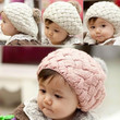 New Cute Winter Knit Crochet Beanie Hat For Baby Kids Girls Boys Gift 3Colors 5400