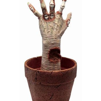 Zombie Arm Potted Plant – Spirit Halloween