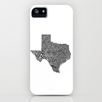 Typographic Texas iPhone & iPod Case by CAPow!